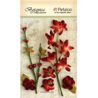 """Petaloo 1100-205 Набор цветов бумажных """"Floral Ephemera- Red"""" (красный)"""