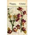"Petaloo 1100-217 Набор цветов бумажных ""Floral Ephemera- Purple"" (пурпур)"