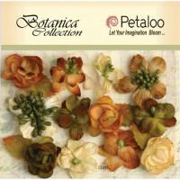 """Petaloo 1101-002 Набор цветов бумажных """"Botanica Minis - Ivory/Gr"""" (Слон.кость,зел.,коричневый)"""