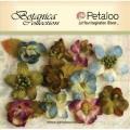"Petaloo 1101-004 Набор цветов бумажных ""Botanica Minis- GreyBlue"" (Серо-голубой, пурпур, зелен)"