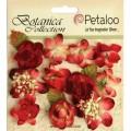 """Petaloo 1101-005 Набор цветов бумажных """"Botanica Minis - Red"""" (красный)"""