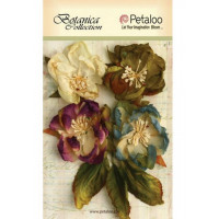 "Petaloo 1102-004 Набор цветов бумажных ""Botanica Blooms - GreyBlue"" (Серо-голубой, пурпур, зелен)"
