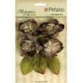 "Petaloo 1102-110 Набор цветов бумажных ""Botanica Blooms - Charcoal"""