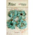 "Petaloo 1200-205 Набор цветов из ткани ""Burlap Blossoms - Teal"""