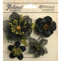 "Petaloo 1256-209 Набор цветов из ткани ""Mixed Textured Blossoms"""