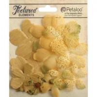 """Petaloo 1257-203 Набор цветов из ткани """"Mixed Textured Layers"""""""