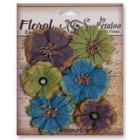 """Petaloo 1461-002 Набор цветов из ткани """"Darjeeling Medium Mix"""""""