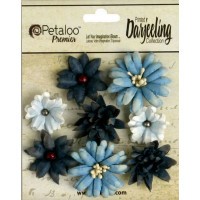 "Petaloo 1462-103 Набор цветов бумажных ""Darjeeling Mini Mix - Teas Blue"""