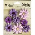 """Petaloo 1462-104 Набор цветов бумажных """"Darjeeling Mini Mix - Teas Purple"""""""