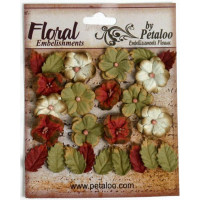 "Petaloo 1465-001 Набор цветов бумажных ""Darjeeling Petites - Burg"""