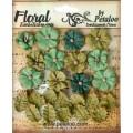 "Petaloo 1465-102 Набор цветов бумажных ""Darjeeling Petites - Teas"" (зеленый)"