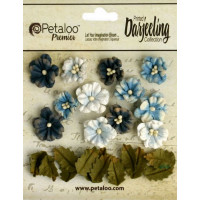 "Petaloo 1465-103 Набор цветов бумажных ""Darjeeling Petites - Teas"""