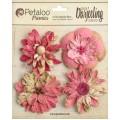 """Petaloo 1479-127 Набор цветов бумажных """"Wild Blossoms - Fuschi"""""""