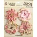 """Petaloo 1479-130 Набор цветов бумажных """"Wild Blossoms - Pink"""""""