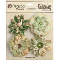 """Petaloo 1479-311 Набор цветов бумажных """"Wild Blossoms - Soft Green"""" (светло-зеленый)"""