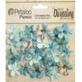 "Petaloo 1481-129 Набор цветов бумажных ""Wild Mini Blossoms - Agua"""