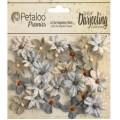 "Petaloo 1481-137 Набор цветов бумажных ""Wild Mini Blossoms- Soft"" (светло-серый)"