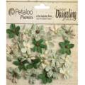 "Petaloo 1481-311 Набор цветов бумажных ""Wild Mini Blossoms - Soft Green"" (светло-зеленый)"