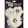 """Petaloo 1537-000 Набор цветов из ткани """"CnvsFlwers Shabby cut"""" (Шебби)"""