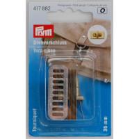 Prym 417882 Поворотный замок для сумок, цвет - состаренной латуни почищенной, 35х20 мм,