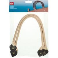 Prym 615175 Ручки для сумки, цвет - бежевый/коричневый, 45 см, 2 шт