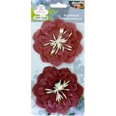 """Рукоделие 6333 Бумажные цветы """"Бордовый и коричневый"""""""