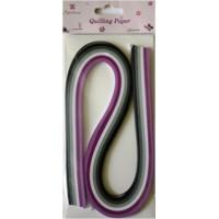 Рукоделие QP0312005 Бумага для квиллинга (фиолетовый и черный)