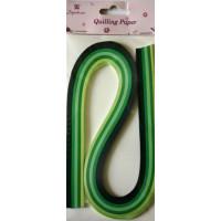 Рукоделие QP0512004 Бумага для квиллинга (зеленые тона)