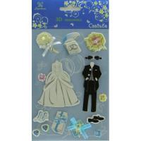 """Рукоделие W3D-10 Наклейки 3D """"Свадьба"""""""