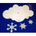 ПКФ Созвездие 045902 Циферблат Облако со снежинками
