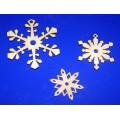 ПКФ Созвездие 046382 Набор снежинок-подвесок (3, 5, 7 см.)
