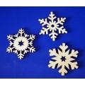 ПКФ Созвездие 047002 Набор снежинок, 3 шт