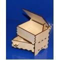 ПКФ Созвездие 047233 Шкатулка с выдвижным ящиком (большая)