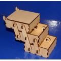 ПКФ Созвездие 047316 Шкатулка 3-х ярусная квадратная (большая)