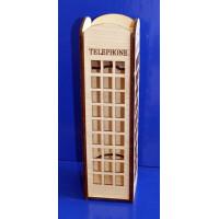 "ПКФ Созвездие 047695 Коробка для вина ""Телефонная будка"""