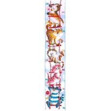 Набор для вышивания PIO001 Cats Height Chart (Ростомер Кошки)