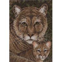 Bucilla 45515 Cougar Family (Семейство пумы)