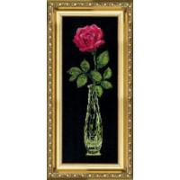 Чаривна Мить 202 Красная роза в вазе