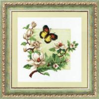 Чаривна Мить 323 Магнолия и бабочка