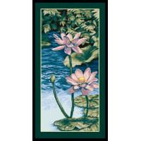 Чаривна Мить 377 Восточный пруд (триптих)
