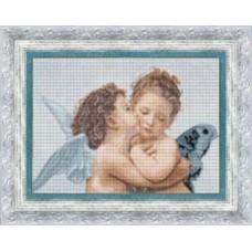 Набор для вышивания 409 По мотивам В. Бугро Амур и Психея. Целующиеся ангелы