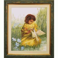 Чаривна Мить 484 Девочка с голубем