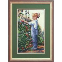 Чаривна Мить 494 Девочка в саду