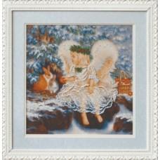 Набор для вышивания Б-556 Ангелочек зимой