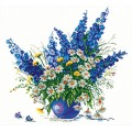 Чудесная игла 40-14                     Голубой букет