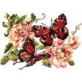 Чудесная игла 42-06 Пионы и бабочки