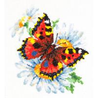 Чудесная игла 42-11 Бабочка и ромашки