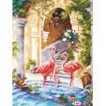 Чудесная игла 64-02 Розовые фламинго