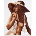 Чудесная игла 68-03                     Девушка в шляпе