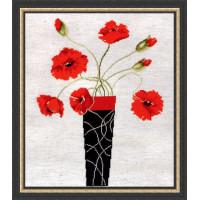 Design Works 2436 Poppies in Vase (Маки в вазе)